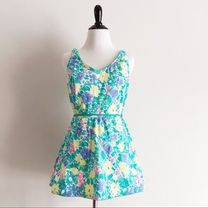 Sea Waves // Vintage Floral Swimsuit